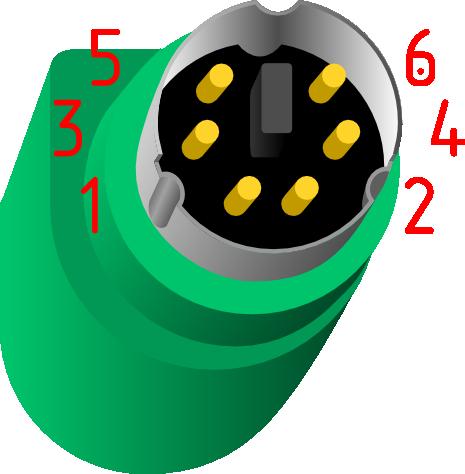 PS/2 (miniDin 6pin)