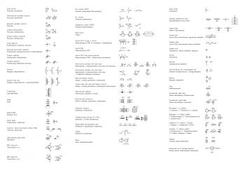Распространённые элементы принципиальных схем