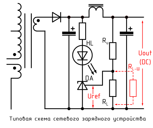Типичная схема низковольтной