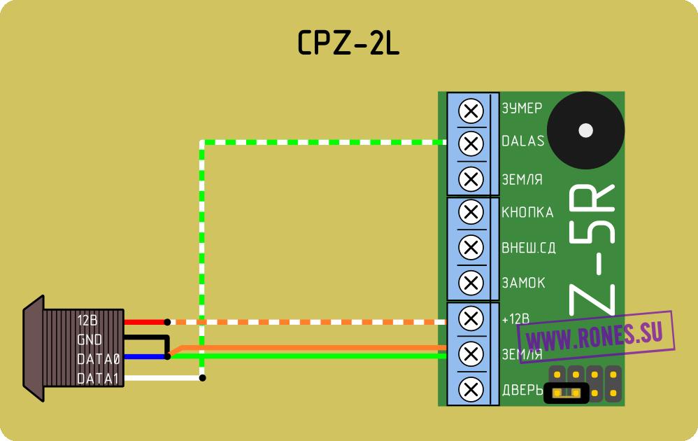 Схема подключения CPZ-2L к Z-