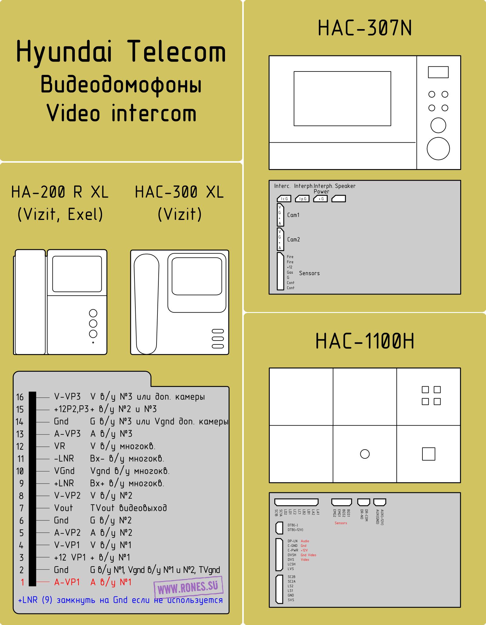Hyundai Ha-301 Домофон Инструкция