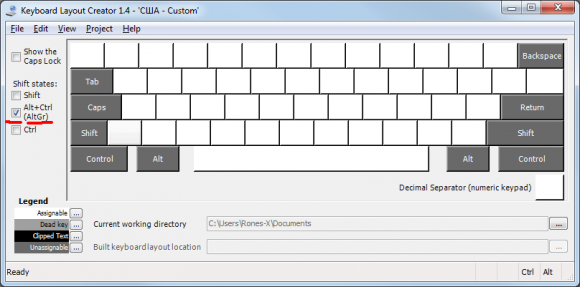 MS Keyboard Layout Creator AltGr