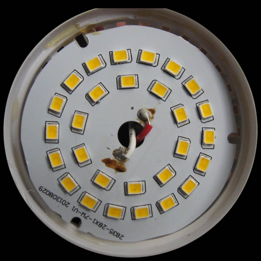 Расположение светодиодов на диске