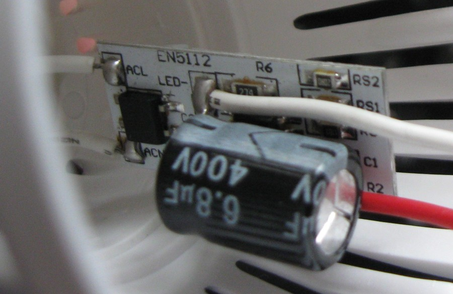 Преобразователь (драйвер) светодиодной лампы