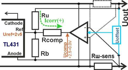 СЗУ. Схема резистивного шунта с усилителем.