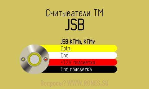 Подключить считыватель  JSB КТМ