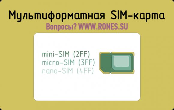 Многоформатная SIM-карта