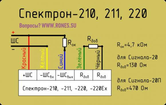 Спектрон 201 схема подключения 816