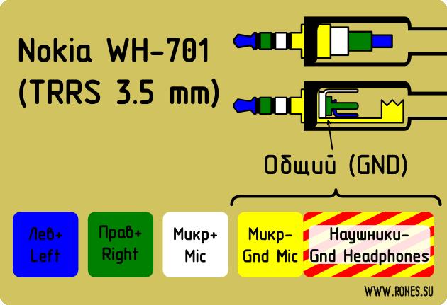 распайка Nokia WH-701