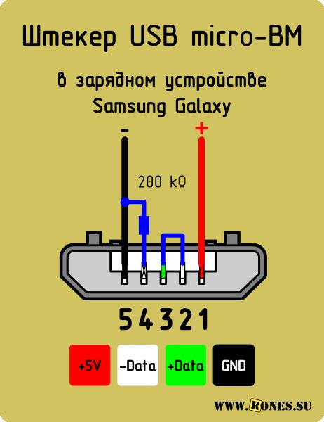 Гнездо USB зарядки для Samsung