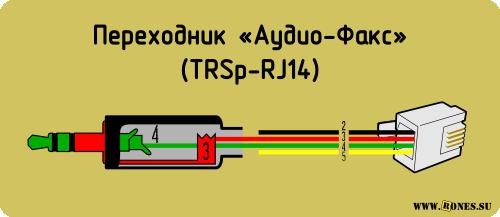 Схема переходника «Аудио-Факс»