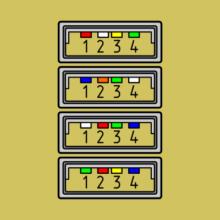 Нестандартные цвета USB в шнурах мышей и клавиатур