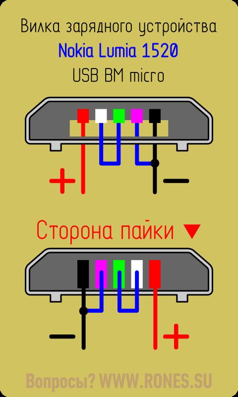 Распайка зарядного micro USB для Nokia Lumia 1520