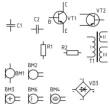 Условные графические обозначения на принципиальных электрических схемах