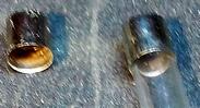 Напайка колпачка от предохранителя на центральный контакт АЗУ