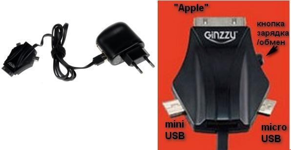 Ginzzu GA-3212UB/S3 — универсальный кабель питания